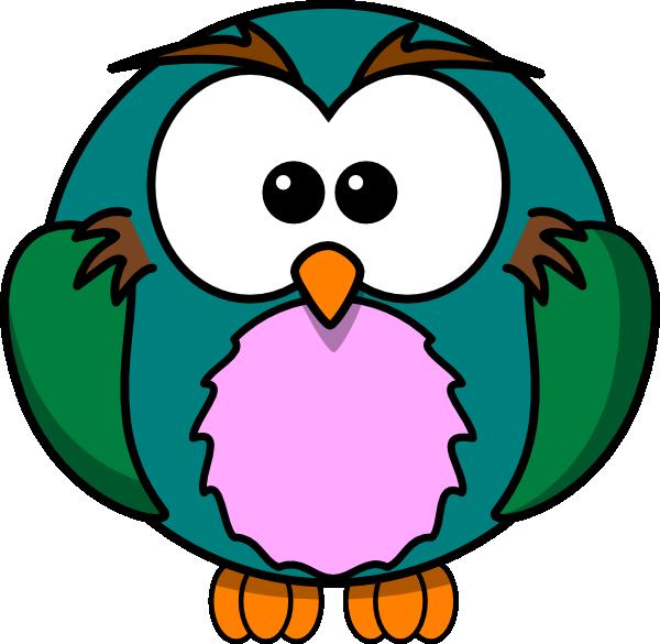 600x585 Cute Owl Cartoon Clip Art
