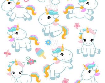 340x270 Cute Unicorn Clipart Cute Unicorn Clip Art Unicorn Digital