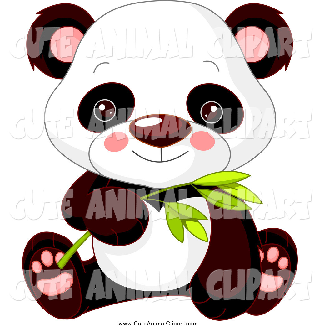 1024x1044 Vector Clip Art Of A Cute Baby Panda Holding Bamboo By Pushkin