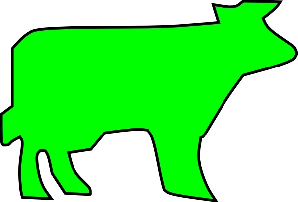 600x407 Farm Animal Outline Clip Art Free Vector In Open Office Drawing