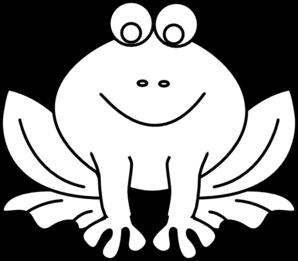 298x261 Frog Outline Clip Art