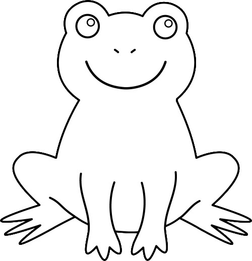 500x518 Clip Art Outline Animals