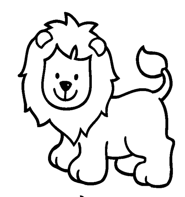 Easy animal. Clipart to color free