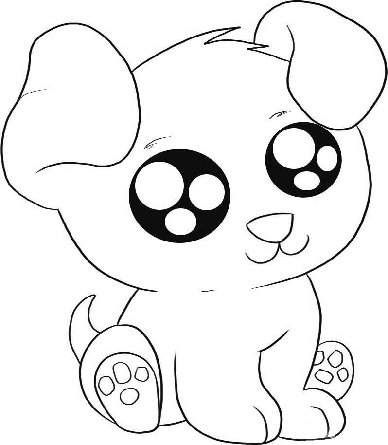 798x914 Cute Animal Coloring Pages For Girls With Big Eyes Printable