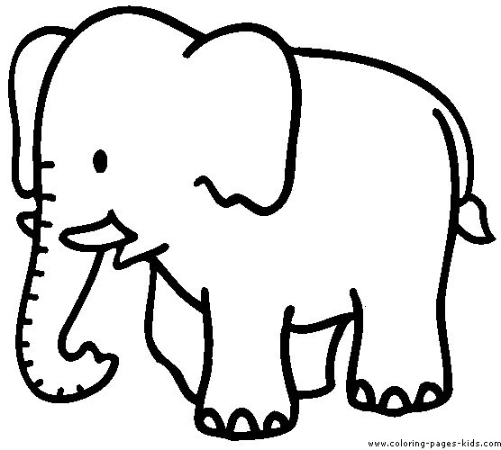 556x500 Elephant Color Page, Animal Coloring Pages, Color Plate, Coloring