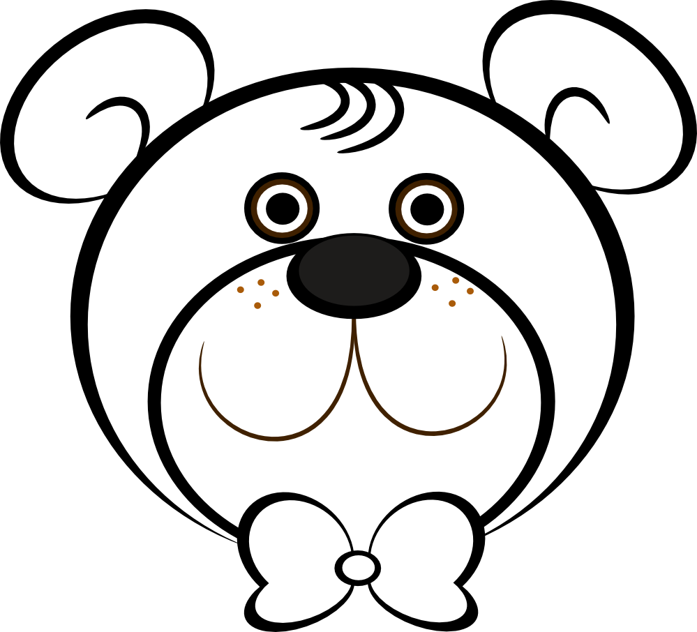 Animal Face Clipart Black And White Free Download Best Animal Face