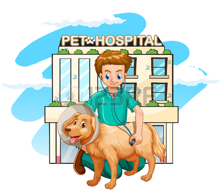 450x388 Vet And Pet Dog At The Pet Hospital Illustration Royalty Free