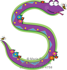 287x300 Letter S Is For Snake, One Of The Letters Of The Alphabet