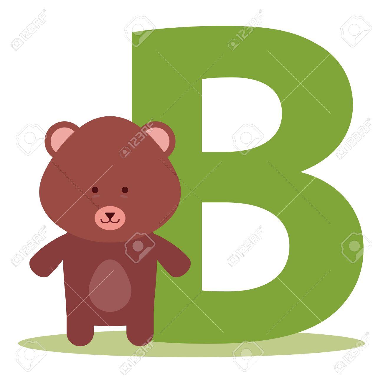 1300x1300 Letter B Clipart Bear