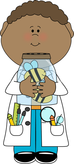 250x550 Boy Scientist Holding Jar Of Bees Clip Art