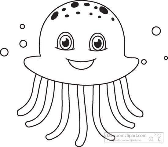 550x481 Sea Life Clipart Black And White