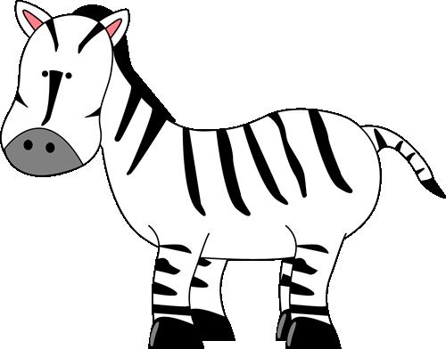500x392 Zebra Clipart Black N White