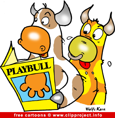 390x399 Bulls And Funny Magazine Cartoon Free