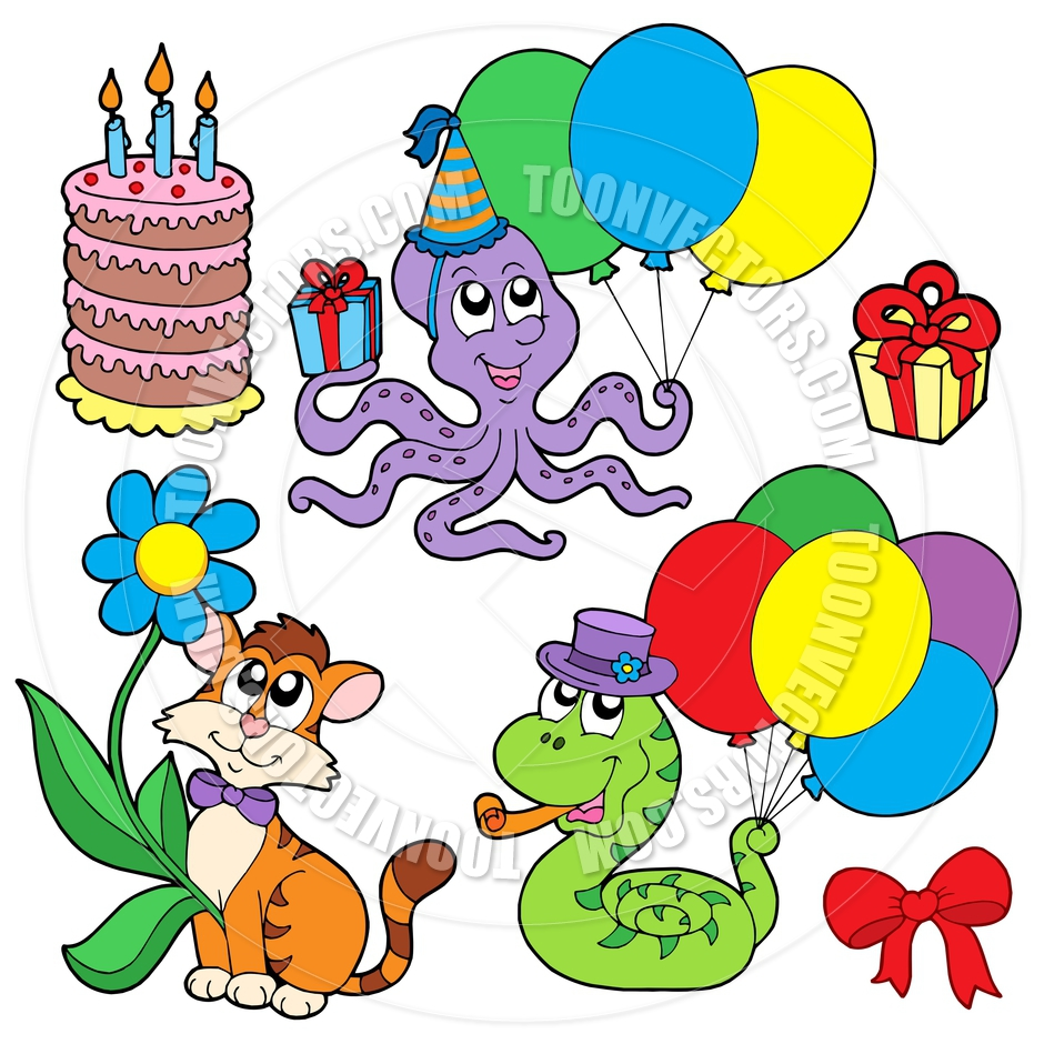 940x940 Cartoon Party Animals Collection By Clairev Toon Vectors Eps