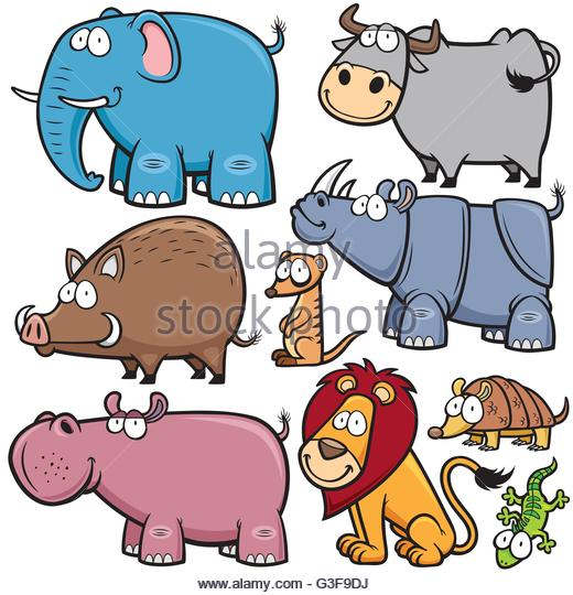 520x540 Vector Illustration Wild Animals Cartoons Stock Photos Amp Vector
