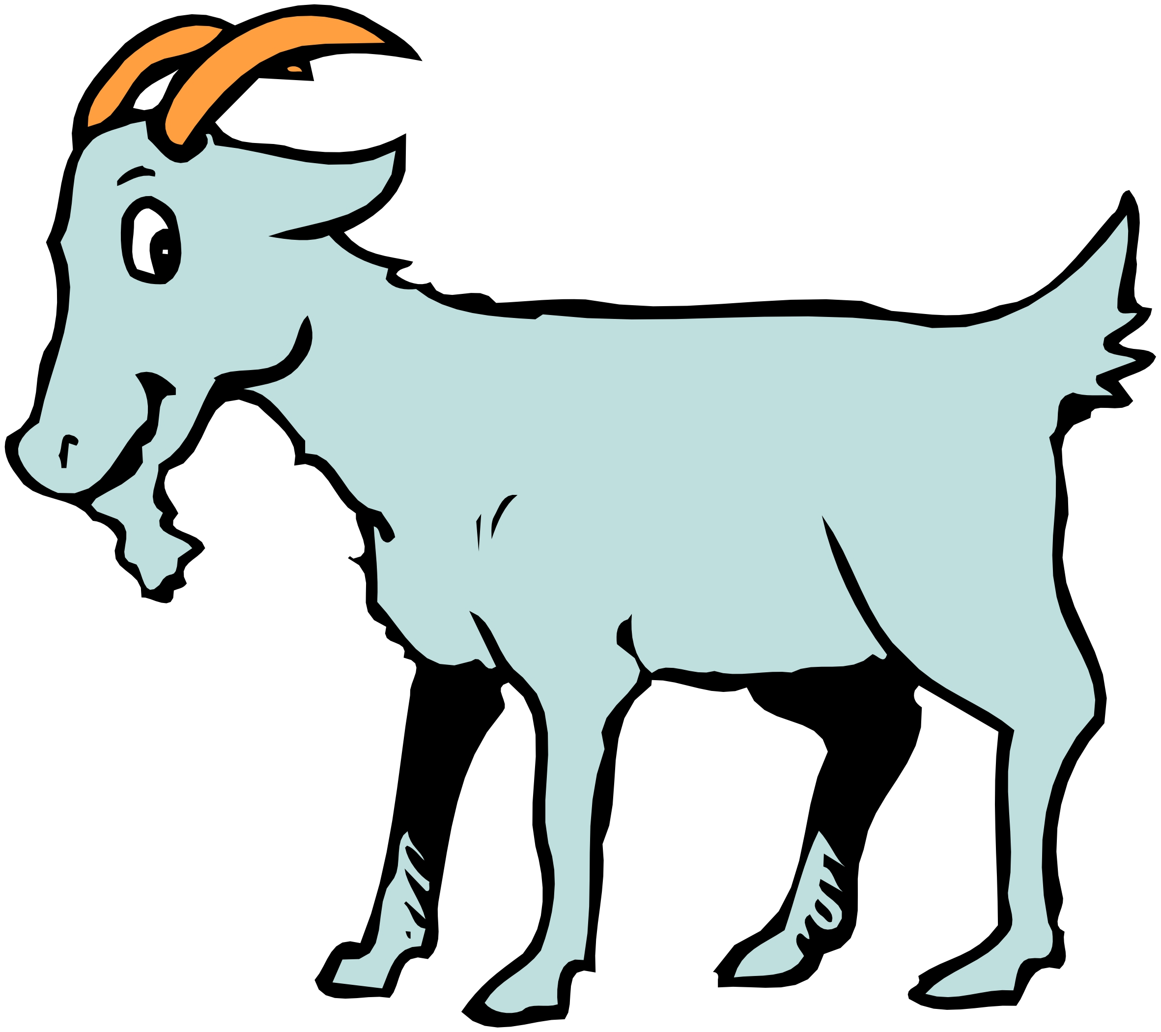 2363x2100 Farm Animals Cartoon Clipart