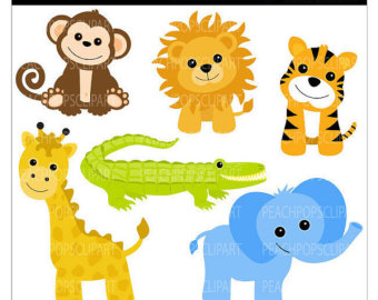 340x270 clipart jungle animals free