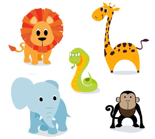 500x448 Cartoon Jungle Animal Clipart