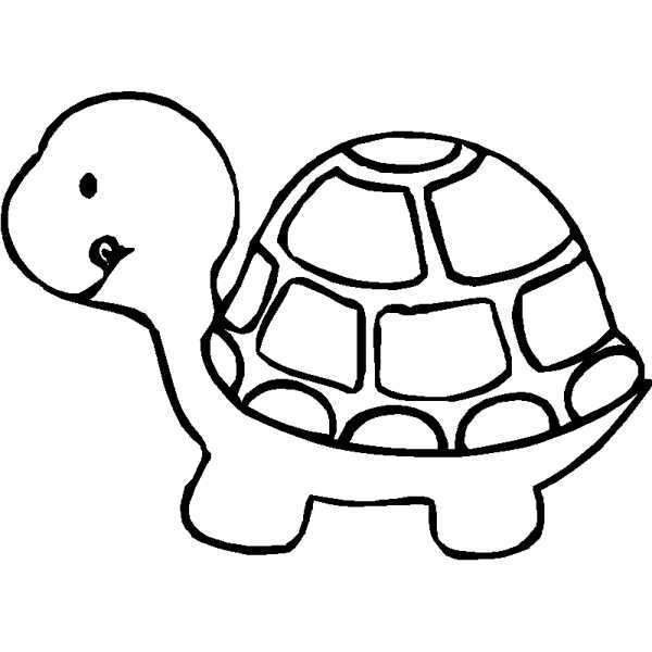 600x600 Turtle Clipart Black And White