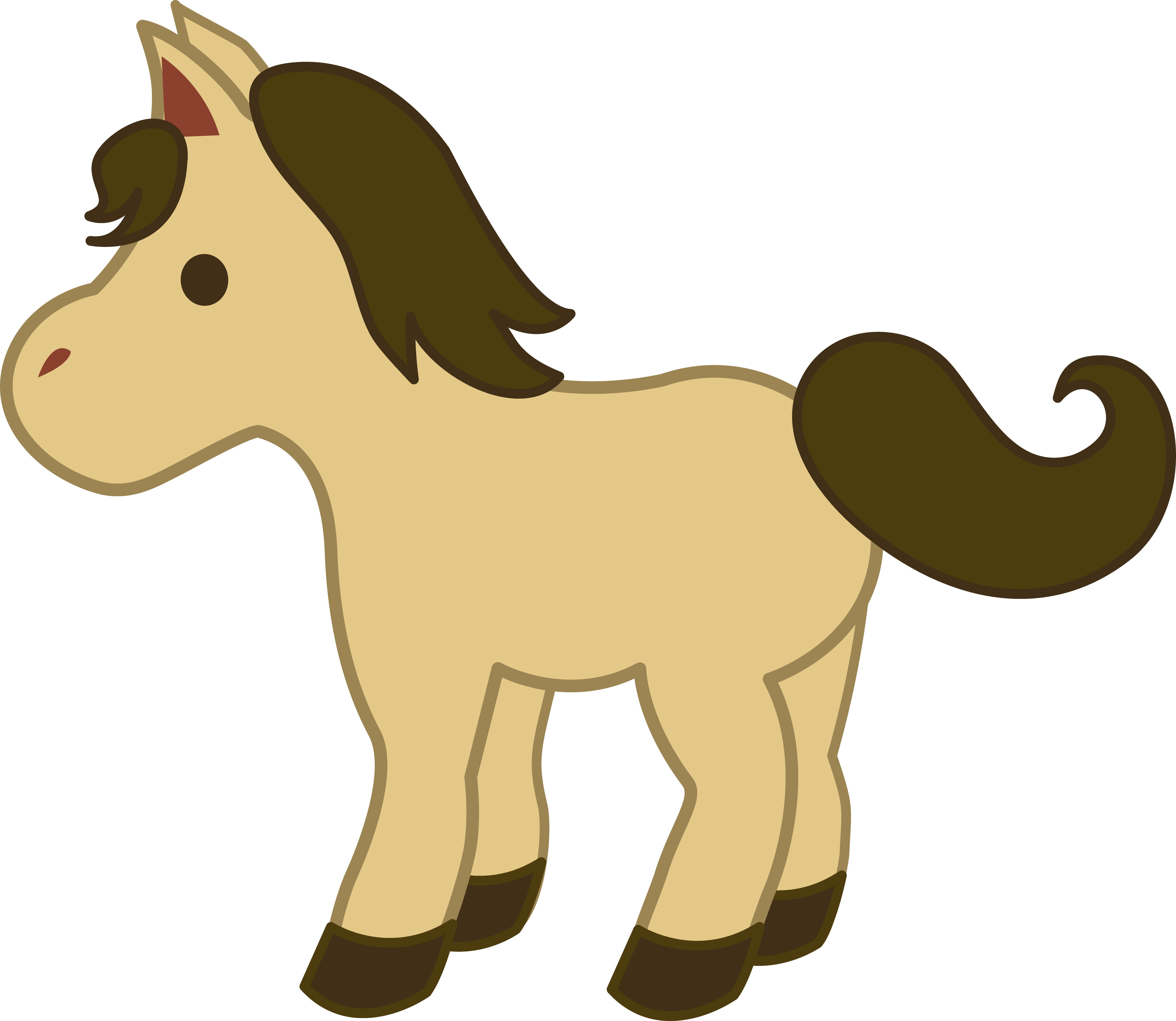 5024x4362 Baby Animal Clipart Pony