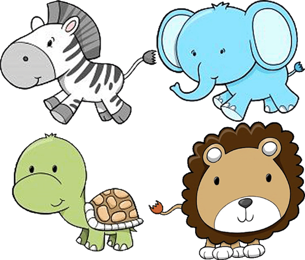 600x512 Baby Animal Clipart Together