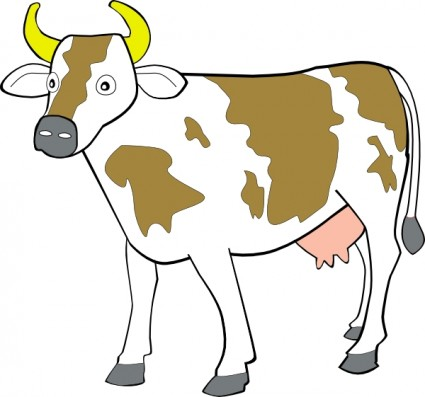 425x397 Cow Clip Art Free Black And White Free Clipart