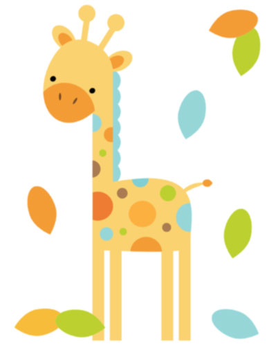 386x500 Animal Clipart Baby Giraffe