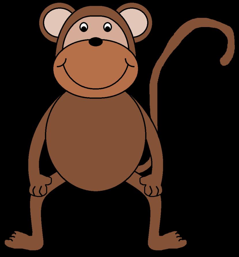 830x893 Best Monkey Clipart