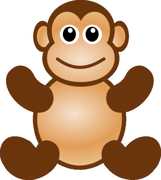 534x594 Monkey Toy Clip Art