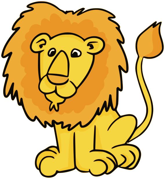 569x617 Lion Male Clipart