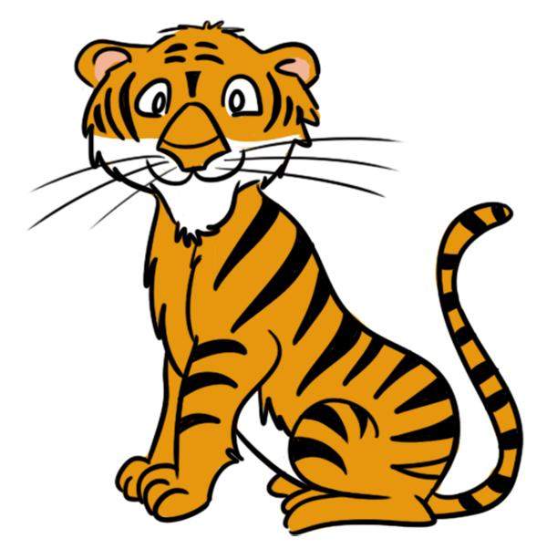 600x602 Tiger Clip Art