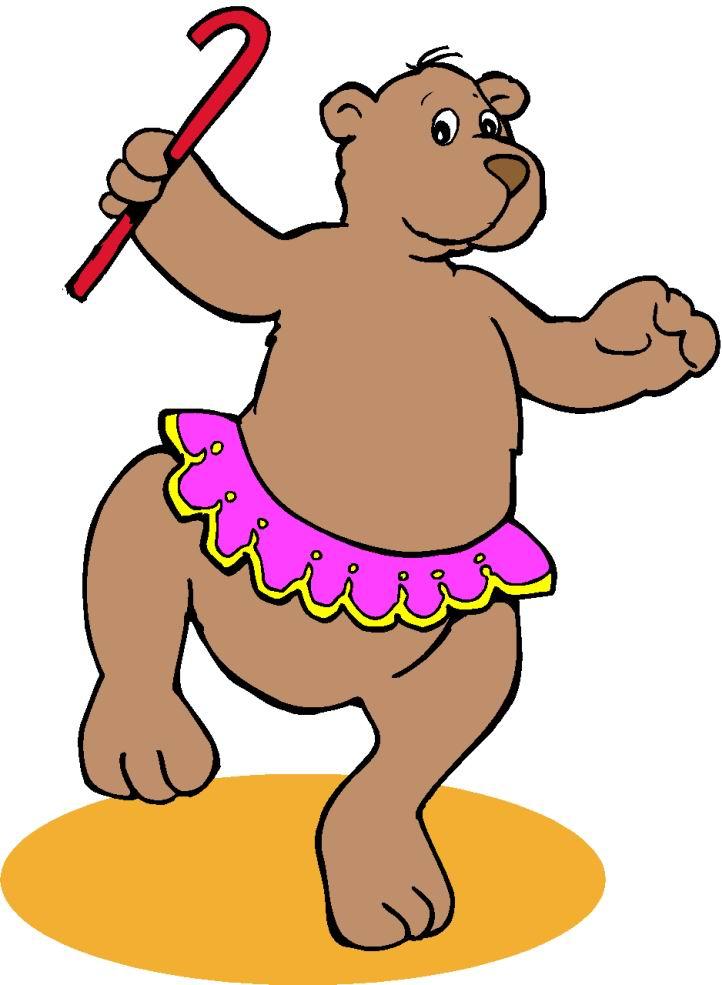 722x985 Bear Dancing Circus Animals Clipart