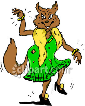 281x350 Clipart Picture Of A Sexy Lady Fox Dancing