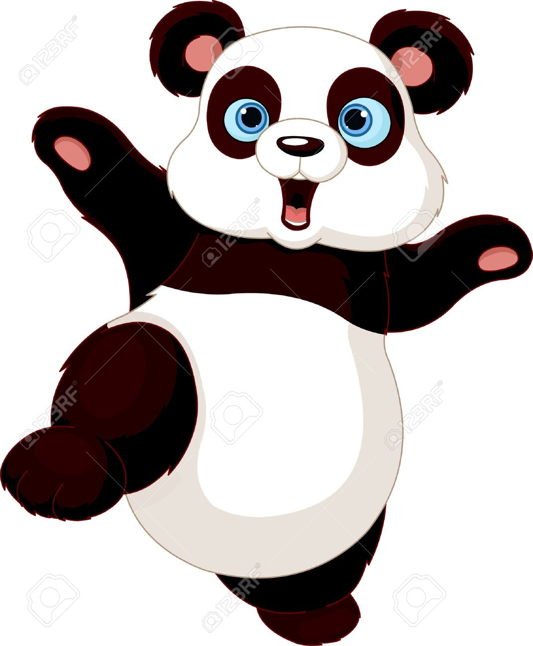 1071x1300 Cute Panda Doing Martial Art Royalty Free Cliparts, Vectors,