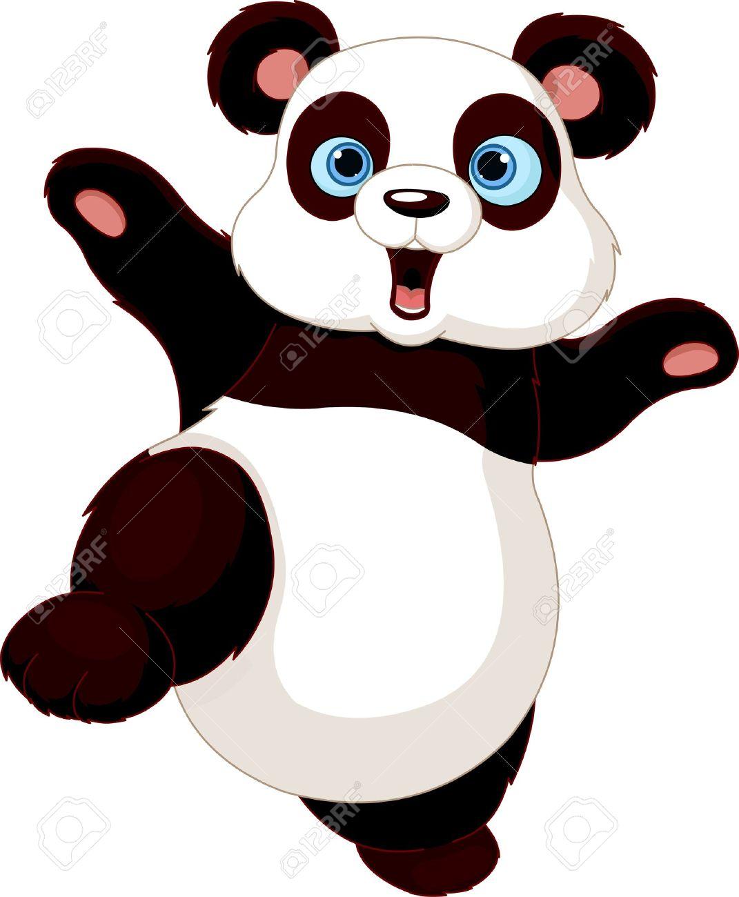 1071x1300 Cute Panda Doing Martial Art Royalty Free Cliparts, Vectors,