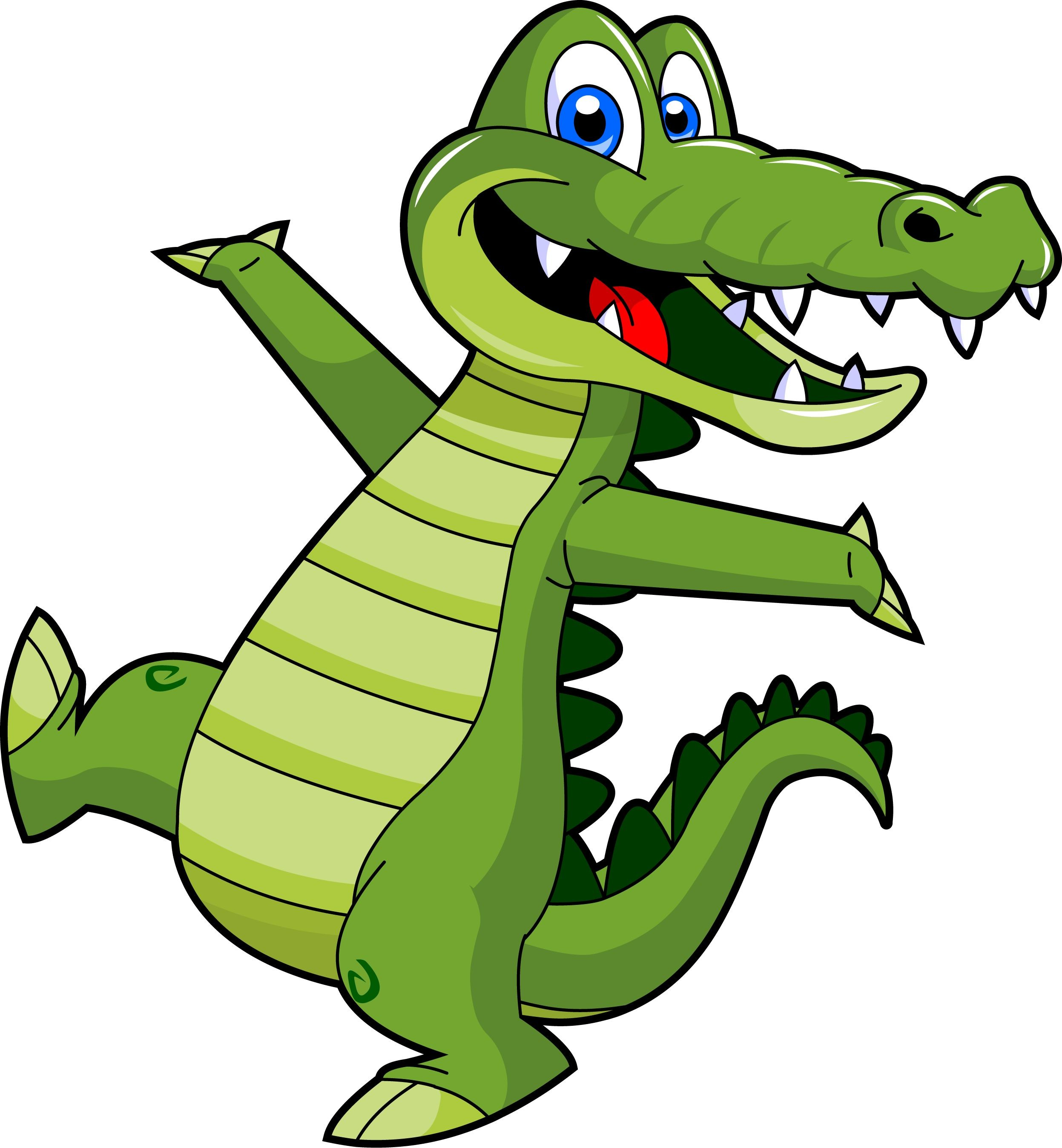 2494x2696 Dancing Alligator Clipart