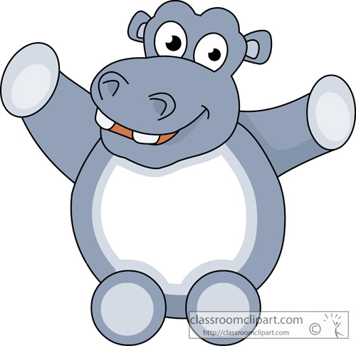 500x485 Hippo Clipart Clipart Cute Hippopotamus Animal 11
