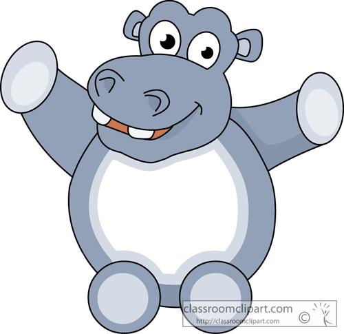 500x485 Hippo Clipart Clipart Cute Hippopotamus Animal 11