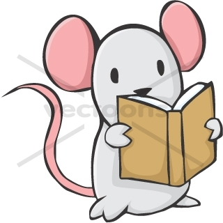 320x320 Cute Mouse Cartoon Reading A Book