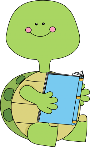 288x470 Animals Reading Clipart