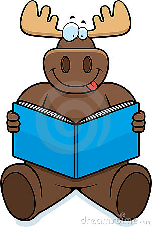 302x450 Animal Reading A Book Clipart