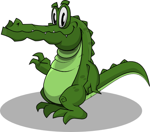 507x445 Alligator clipart friendly