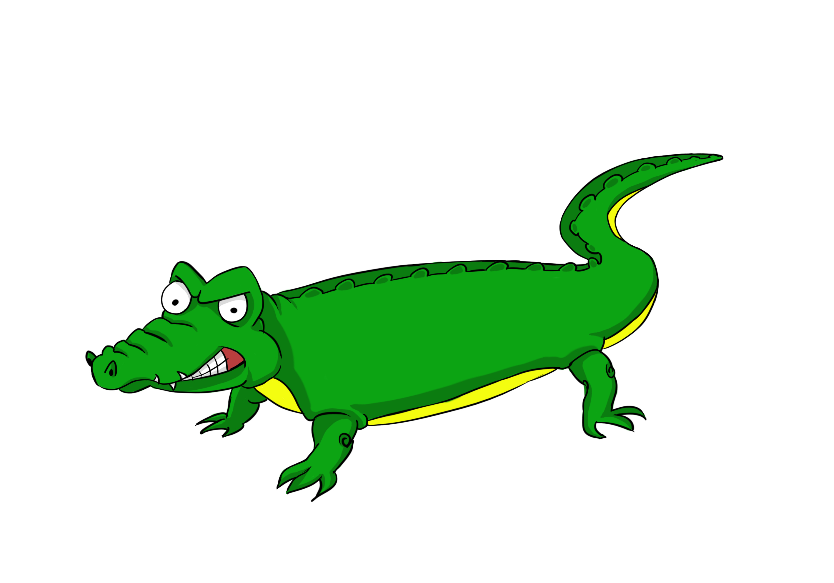2835x1984 Crocodile clipart drawn
