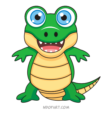 390x400 Crocodile Clipart Buaya
