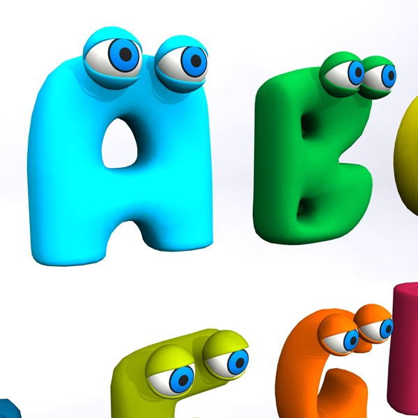 600x600 Animated Alphabets Group