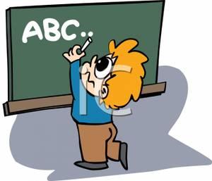 300x257 Blackboard Clipart Abc