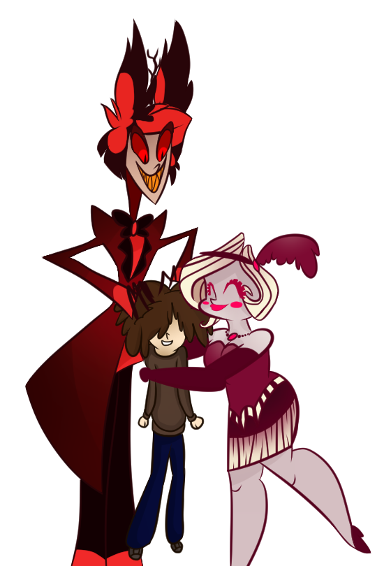 560x810 Hazbin Hotel Au Meeting Uncle Al And Aunt Mimzy By