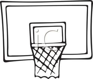 300x253 Basketball Hoop Clipart Black And White