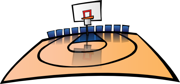 600x280 Cartoon Basketball Court Clip Art