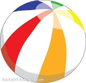 300x290 Clipart Picture Of A Colorful Beach Ball